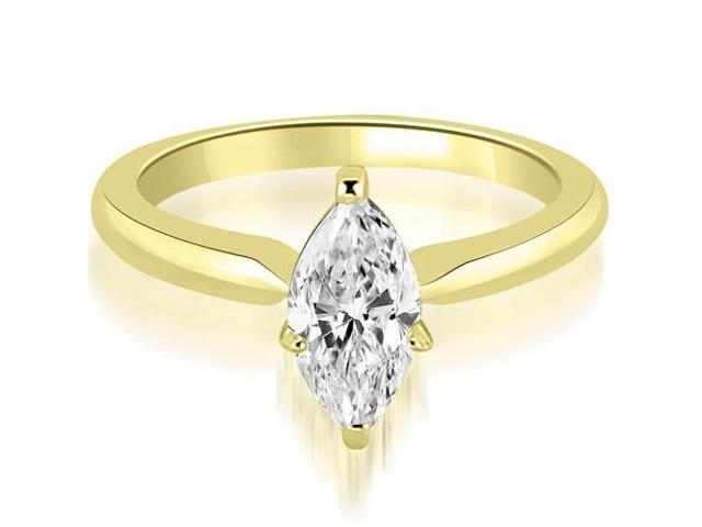 1.00 cttw. Classic Solitaire Marquise Cut Diamond Engagement Ring in 14K Yellow Gold