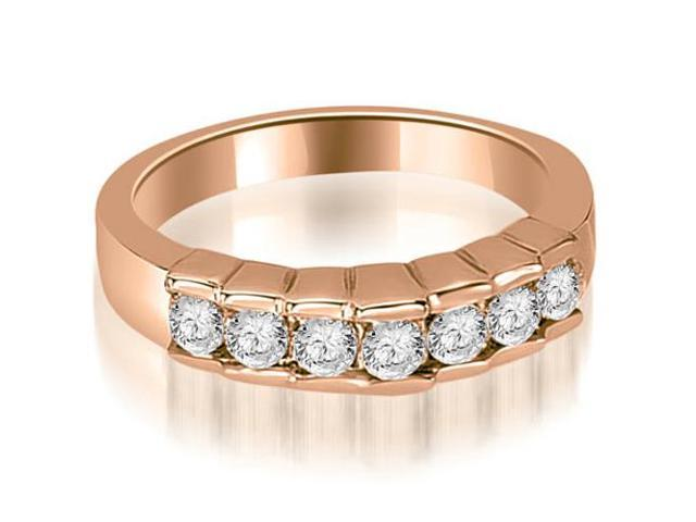0.55 cttw. Round Cut Diamond Wedding Band in 18K Rose Gold