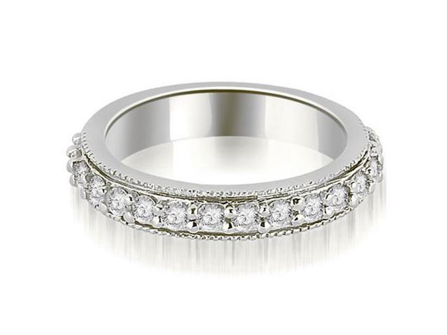 0.80 cttw. Round Cut Eternity Diamond Wedding Band in 18K White Gold