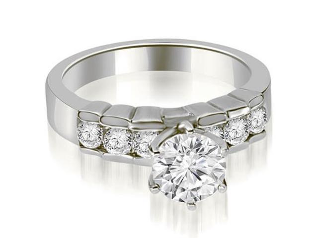 0.95 cttw. Round Cut Diamond Engagement Ring in 18K White Gold