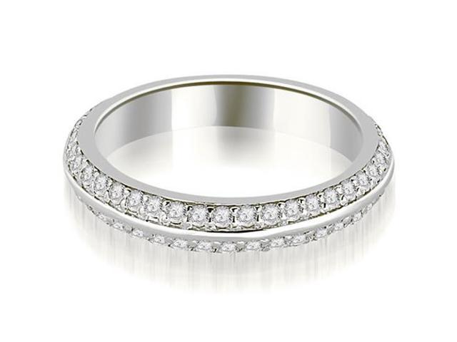 0.40 cttw. Knife Edge Round Cut Diamond Wedding Band in Platinum