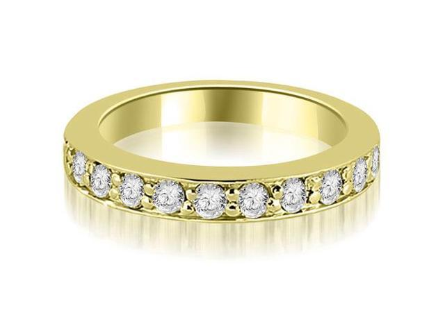 0.55 cttw. Round Cut Diamond Wedding Band in 14K Yellow Gold