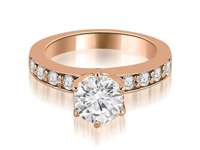 0.75 cttw. Round Cut Diamond Engagement Ring in 18K Rose Gold