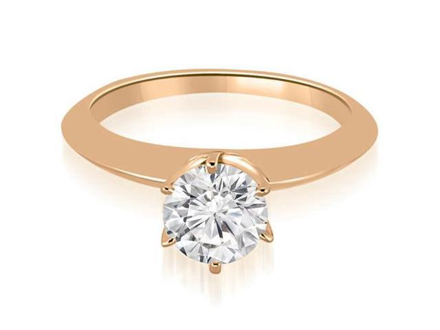 0.35 cttw. Knife Edge Round Cut Solitaire Engagement Ring in 14K Rose Gold