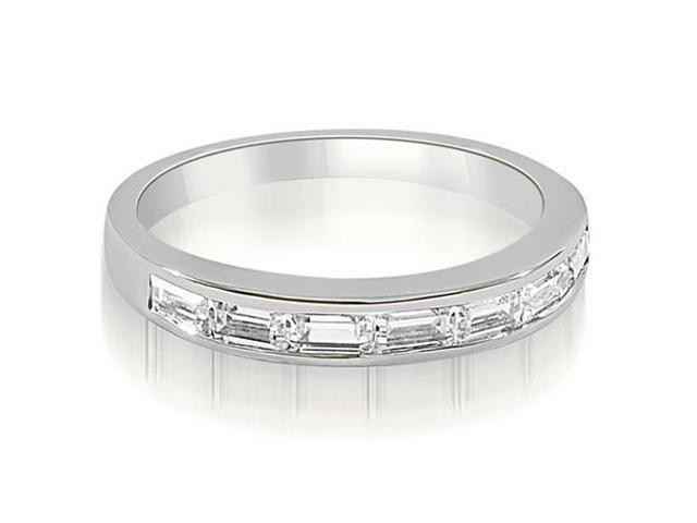 0.70 cttw. 7-Stone Channel Set Baguette Diamond Wedding Band in Platinum (SI2, H-I)