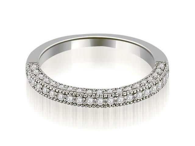0.50 cttw. Round Cut Wedding Band in 14K White Gold