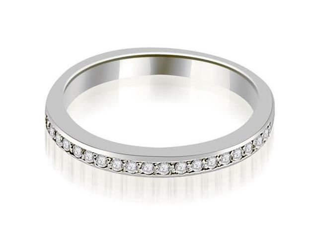 0.20 cttw. Prong Set Round Diamond Wedding Band in 18K White Gold