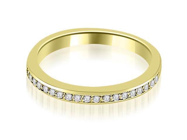 0.20 cttw. Prong Set Round Diamond Wedding Band in 14K Yellow Gold