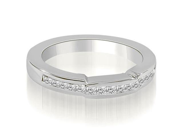 0.50 cttw. Channel Set Princess Diamond Wedding Band in 18K White Gold