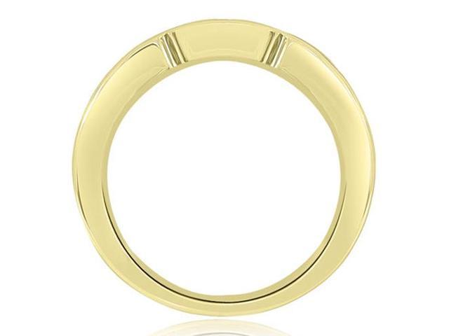 0.50 cttw. Channel Set Princess Diamond Wedding Band in 18K Yellow Gold (SI2, H-I)