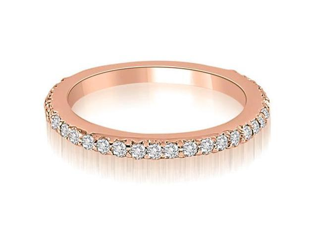 0.40 cttw. Classic Round Cut Diamond Wedding Band in 18K Rose Gold (SI2, H-I)