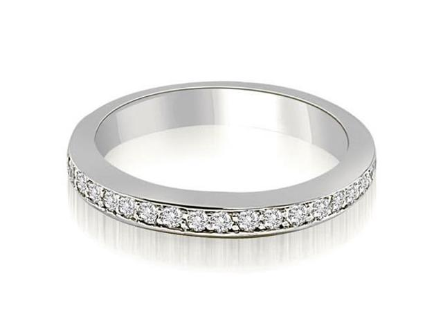 0.30 cttw. Classic Round Cut Diamond Wedding Band in 14K White Gold (VS2, G-H)