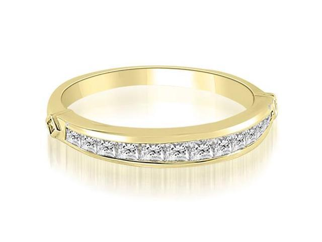 0.60 cttw. Classic Channel Set Princess Cut Diamond Wedding Band in 18K Yellow Gold
