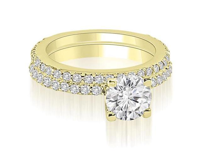 1.51 cttw. Round Cut Diamond Bridal Set in 18K Yellow Gold