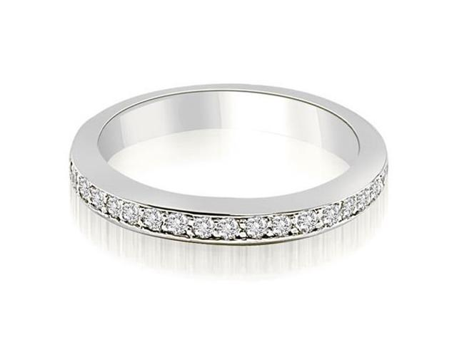 0.30 cttw. Classic Round Cut Diamond Wedding Band in Platinum