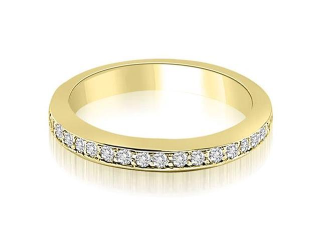 0.30 cttw. Classic Round Cut Diamond Wedding Band in 14K Yellow Gold
