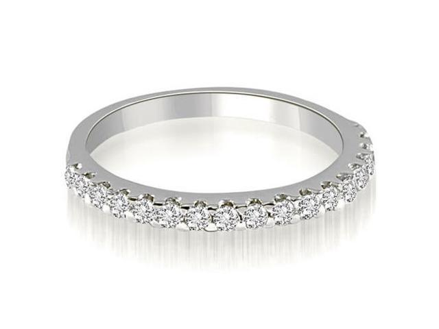 0.30 cttw. Classic Round Cut Diamond Wedding Band in 14K White Gold (SI2, H-I)