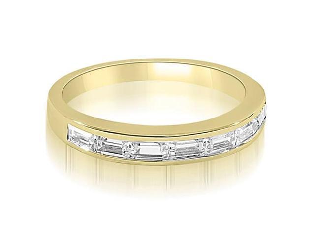 0.70 cttw. 7-Stone Channel Set Baguette Diamond Wedding Band in 18K Yellow Gold