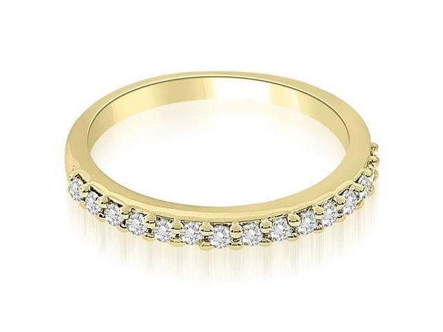 0.30 cttw. Classic Round Cut Diamond Wedding Band in 18K Yellow Gold