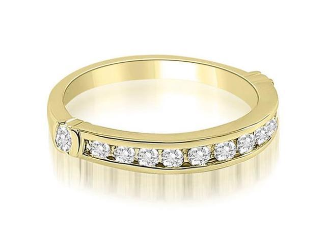 0.45 cttw. Classic Round Cut Diamond Wedding Band in 18K Yellow Gold