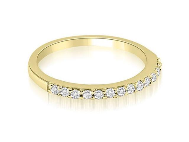 0.21 cttw. Classic Round Cut Diamond Wedding Band in 18K Yellow Gold