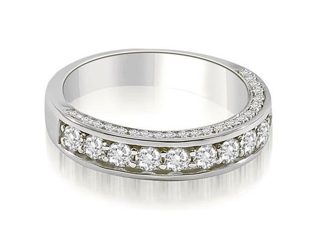 0.43 cttw. Classic Round Cut Diamond Wedding Band in 18K White Gold