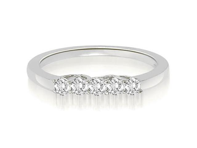 0.25 cttw. Classic Trellis Round Cut Diamond Wedding Ring in Platinum (VS2, G-H)