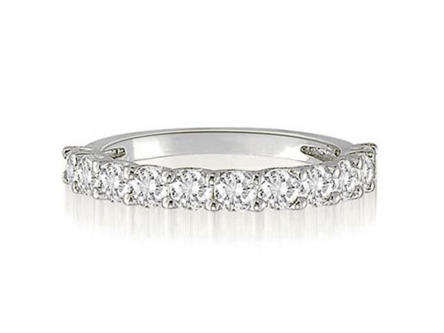 1.00 cttw. Round Cut Diamond Wedding Band in 18K White Gold (SI2, H-I)