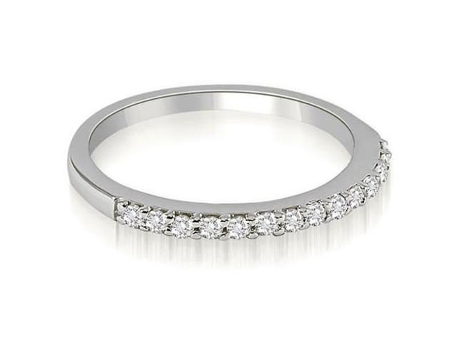 0.21 cttw. Classic Round Cut Diamond Wedding Band in 14K White Gold