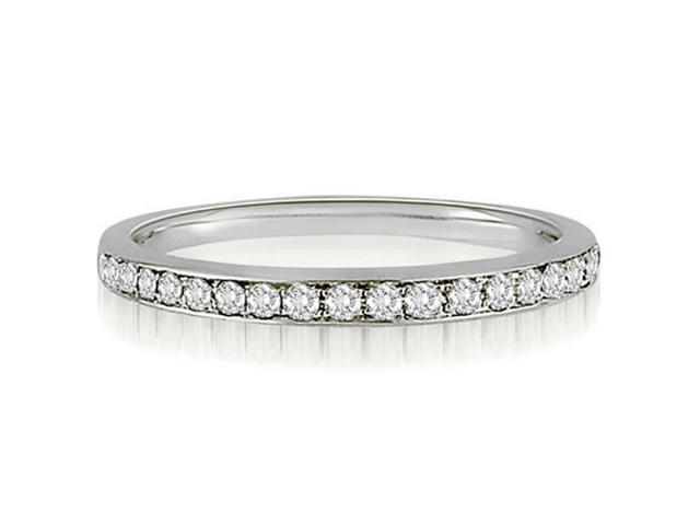 0.25 cttw. Round Cut Diamond Wedding Band in 18K White Gold (SI2, H-I)