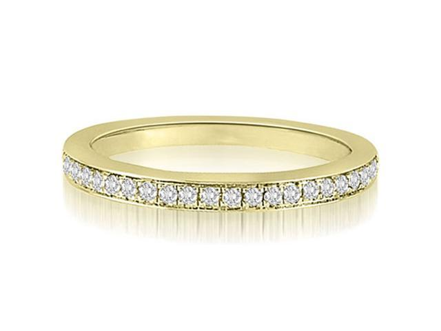 0.15 cttw. Round Cut Diamond Wedding Ring in 14K Yellow Gold (SI2, H-I)