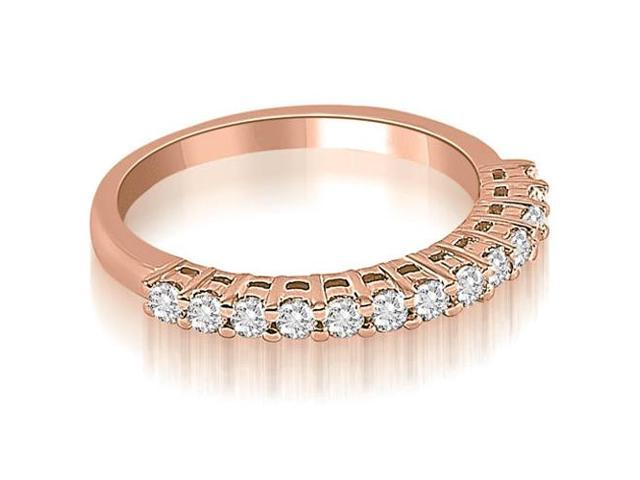 0.40 cttw. Classic Round Cut Diamond Wedding Ring in 18K Rose Gold