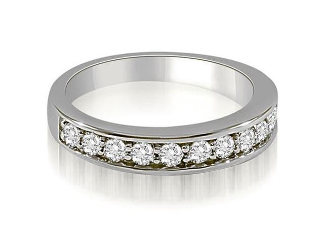 0.65 cttw. Classic Round Cut Diamond Wedding Ring in 14K White Gold