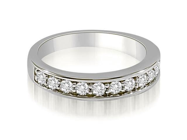 0.65 cttw. Classic Round Cut Diamond Wedding Ring in 18K White Gold