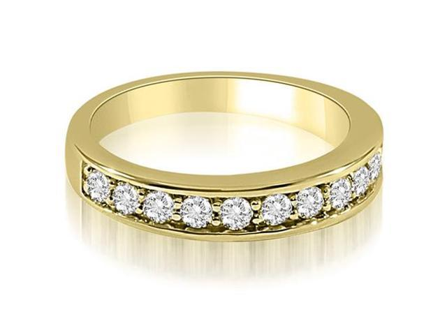 0.65 cttw. Classic Round Cut Diamond Wedding Ring in 14K Yellow Gold