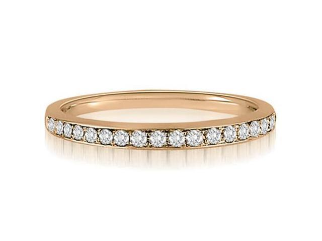 0.25 cttw. Round Cut Diamond Wedding Band in 14K Rose Gold (SI2, H-I)