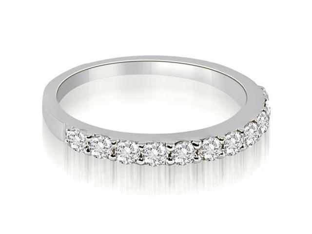 0.55 cttw. Classic Round Cut Diamond Wedding Ring in Platinum