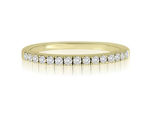 0.25 cttw. Round Cut Diamond Wedding Ring in 18K Yellow Gold (SI2, H-I)