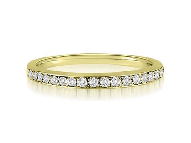 0.25 cttw. Round Cut Diamond Wedding Band in 14K Yellow Gold (SI2, H-I)