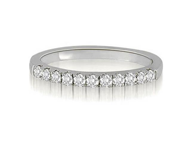 0.30 cttw. Round Cut Diamond Wedding Ring in 14K White Gold (VS2, G-H)