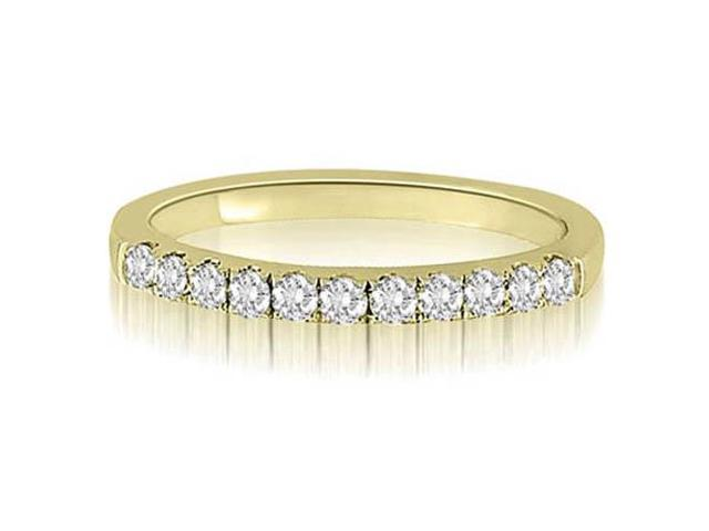 0.30 cttw. Round Cut Diamond Wedding Ring in 14K Yellow Gold (VS2, G-H)