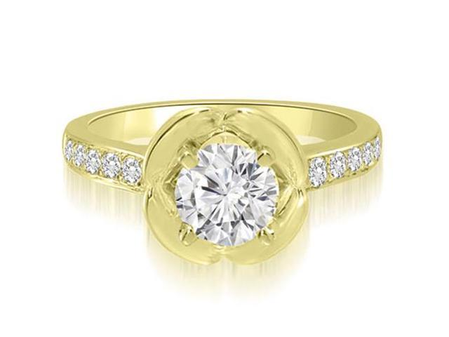 0.85 cttw. Round Cut Diamond Engagement Ring in 14K Yellow Gold