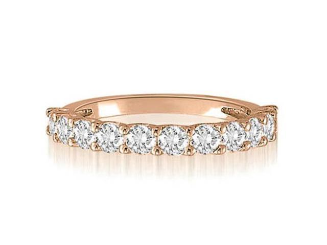 1.00 cttw. Round Cut Diamond Wedding Band in 18K Rose Gold (SI2, H-I)