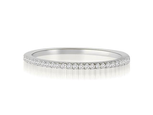 0.10 cttw. Classic Petite Round Cut Diamond Wedding Ring in Platinum (SI2, H-I)