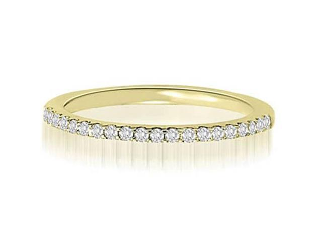0.15 cttw. Petite Round Cut Diamond Wedding Ring in 14K Yellow Gold (VS2, G-H)