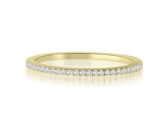 0.10 cttw. Classic Petite Round Cut Diamond Wedding Ring in 14K Yellow Gold (VS2, G-H)