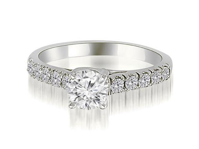 1.00 cttw. Trellis Round Cut Diamond Engagement Ring in Platinum (VS2, G-H)