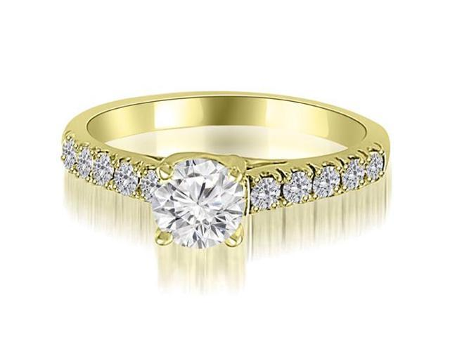 1.00 cttw. Trellis Round Cut Diamond Engagement Ring in 14K Yellow Gold (SI2, H-I)