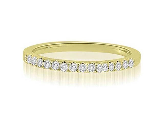 0.22 cttw. Shared-Prong Round Cut Diamond Wedding Ring in 14K Yellow Gold (SI2, H-I)