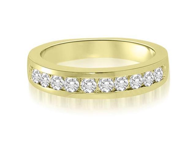 1.00 cttw. Channel Set Round Cut Diamond Wedding Ring in 18K Yellow Gold (SI2, H-I)